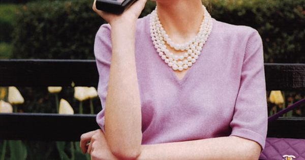 Love the pearls.so Grace Kelly!!!