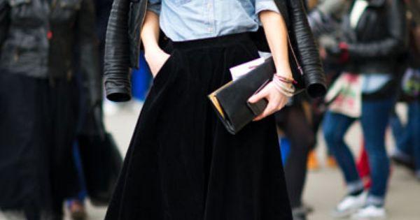 Full skirt - Street style...