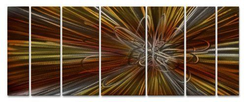 Electron Ray Large Abstract Metal Wall Art By Artist Ash Carl Contemporary Home Decor Mod Abstract Metal Wall