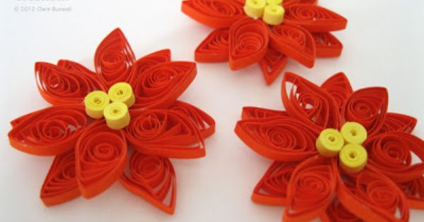 Creations - Quilled Poinsettia Tutorial | Crafts: Paper | Pinterest