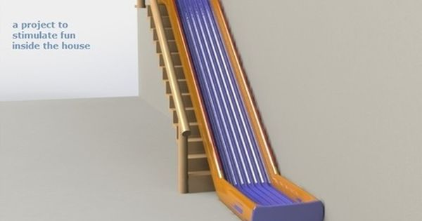Indoor Stair Slide Dutch Name Trap Glijbaan Kickstarter On Stair Slide Indoor Slides Diy Home Decor