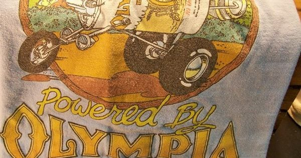 olympia beer t shirt vintage 1978 powered by olympia beer rare xl hanes graphictee beer. Black Bedroom Furniture Sets. Home Design Ideas