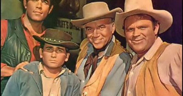 Adam, Joe, Ben and Hoss - One of the first color TV