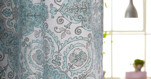 A Powder Blue Heirloom Shower Curtain To Create Instant
