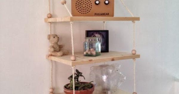 caract rielle diy une tag re suspendue diy pinterest tag res c bles plantes et. Black Bedroom Furniture Sets. Home Design Ideas