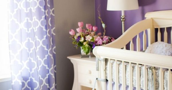 Purple and Gray Nursery - color ideas for big girl room for