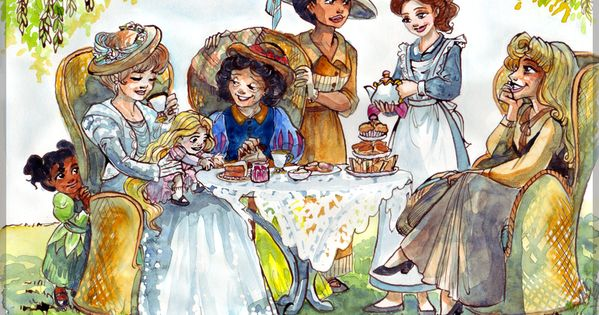 Tea time by TaijaVigilia The brief was to portray Disney princesses enjoying