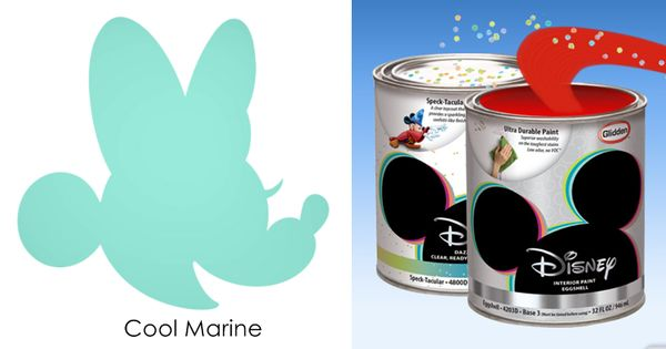 Disney Paint By Glidden Cool Marine Turquoise Disney