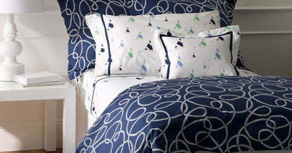 Nautical Navy Blue Bedding Admiral Lulu Dk For Matouk