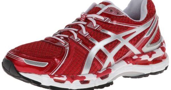 Asics Women S Gel Kayano 19 Running Shoe Hot Red White Silver 11 5