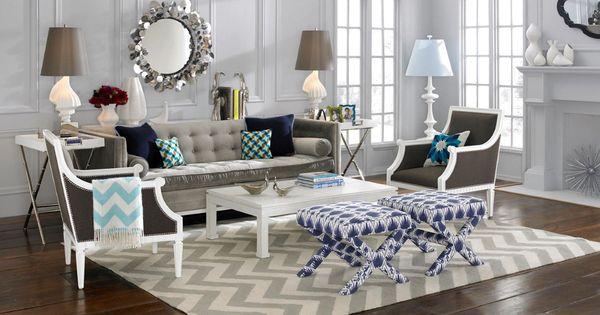 Light Walls Grey Sofa Dark Floor Rug Living