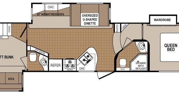 2 Bedroom 5th Wheel Floor Plans Google Search Rv
