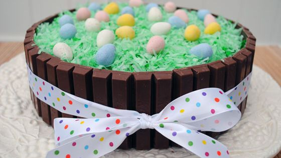 Cute Easter idea: Easter Kit Kat Cake