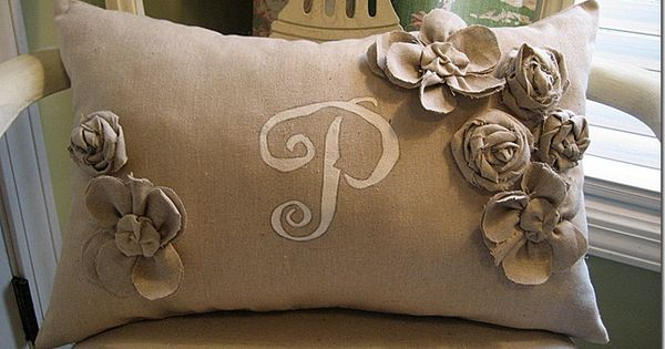 CONFESSIONS OF A PLATE ADDICT Pottery Barn Inspired Monogrammed Pillow