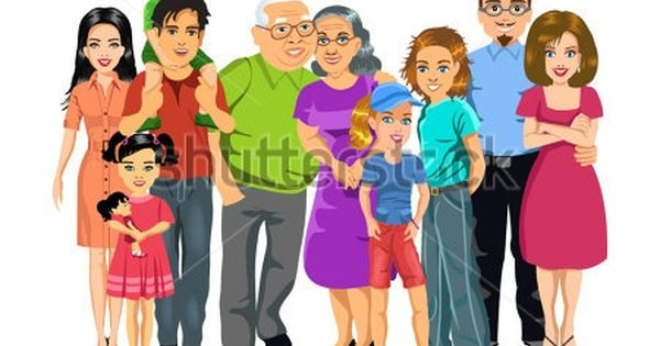 Big Happy Family Clipart Family Illustration Family Clipart Clip Art