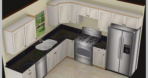 Five Basic Kitchen Layouts: L Shaped Kitchen Island Designs With Seating