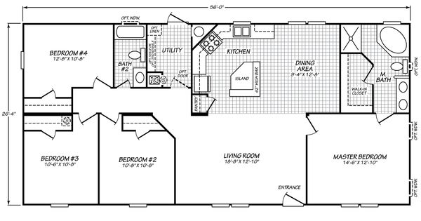 Carriage manor ii 28564c fleetwood homes floor plans for Bob house plans