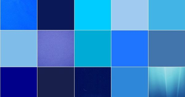 Different Colors Of Blue Personal Collage Pinterest