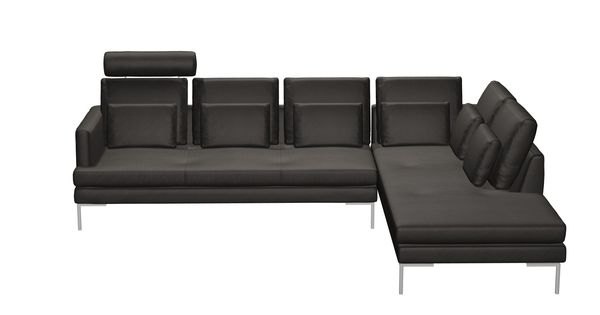 boconcept istra sofa in grey leather possibly our new. Black Bedroom Furniture Sets. Home Design Ideas