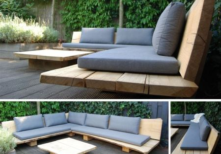 une banquette simple et pas ch re pour une terrasse ou un jardin bancs d 39 ext rieur. Black Bedroom Furniture Sets. Home Design Ideas