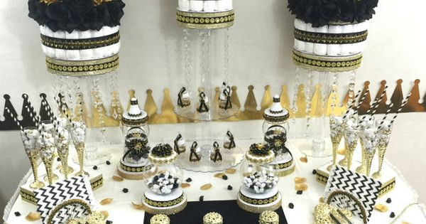 black and gold prince baby shower theme and decorations baby boy