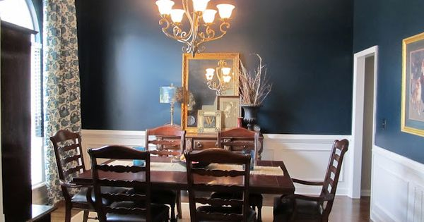 The Color Is Sherwin Williams Dark Night With Brown And