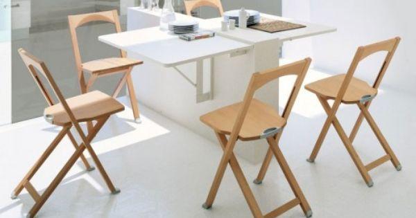 10 Ideas To Use Small Folding Tables On A Kitchen Table Murale Rabattable Table De Cuisine Pliante Chaise Pliante Design