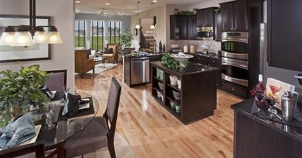 Black Cabinets Gray Walls Oak Floors The Westchester Model Ryland Homes Greenwood In