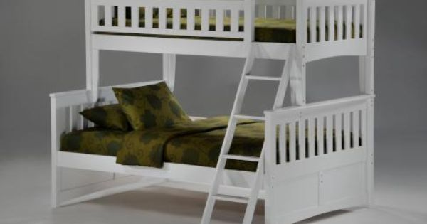 Pacific Mfg Ginger Bunk Complete Frame White Bunk Beds Cool
