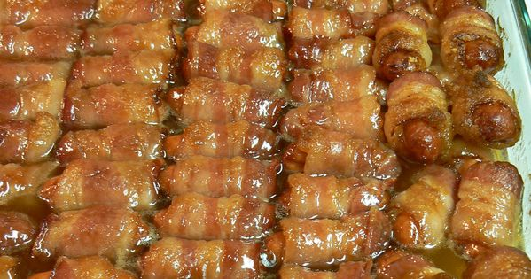"""Crack Weenies"" (or, Bacon Wrapped Smokies with Brown Sugar and Butter)"