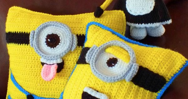 Free Minion Cushion Crochet Pattern : Minion Crochet Cushion Pattern Best Collection Minion ...