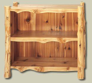 Small Cedar Log Bookshelf 1070 Cedar Furniture Rustic Furniture Rustic Log Furniture