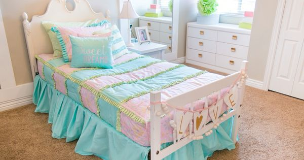 Little Girls Pink And Turquoise Bedding Adorable Pastel