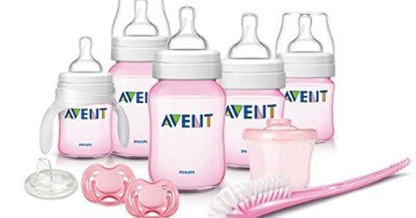Avent Pink Bottle Gift Set Newborn Gift Sets Newborn Baby Bottles Baby Girl Shower Gifts