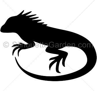 Iguana Silhouette Silhouette Clip Art Silhouette Iguana