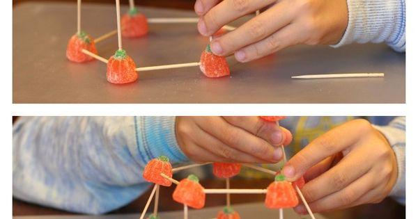 Building Structures with Candy Pumpkins | Stem activities ...