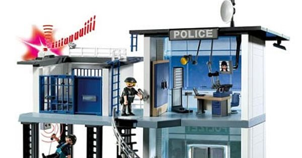 playmobil police station w alarm system playmobil toys. Black Bedroom Furniture Sets. Home Design Ideas