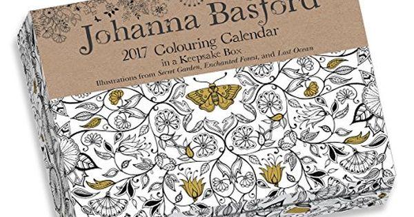 Johanna Basford 2017 Colouring Day-to-Day Calendar (UK Exclusive)