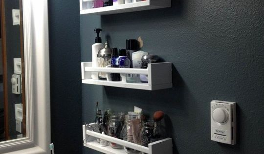 Ikea Bekvam spice racks for bathroom organization