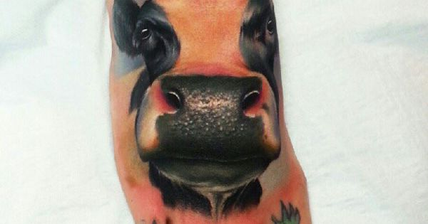 Mick Squires cow tattoo amazing