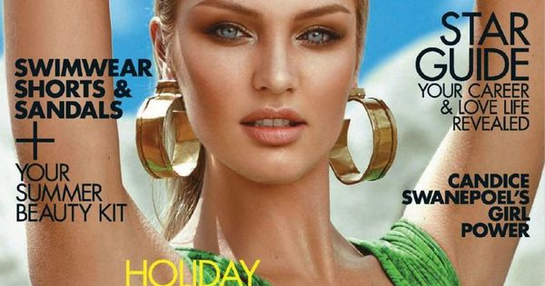 Candice Swanepoel rockin emerald on the cover of Elle South Africa January