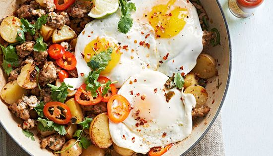 Pork and Hot Pepper Hash and other breakfast recipes for the mr.