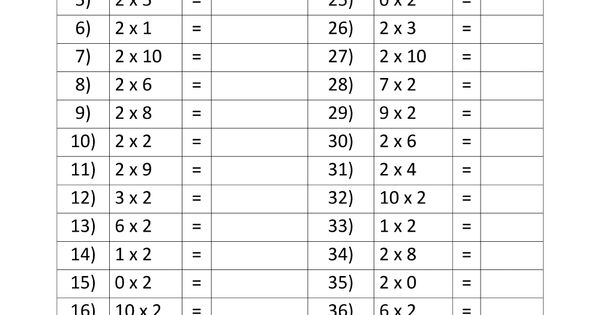 2 Times Tables Speed Test Gif 1000 215 1294 For My Little