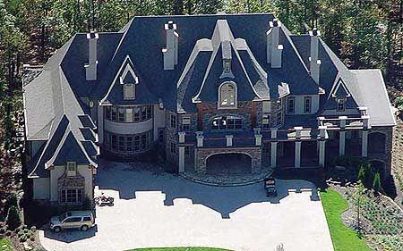 Plan 12270jl Majestic Storybook Castle Home Plan In 2021 Luxury House Plans Castle House House Plans