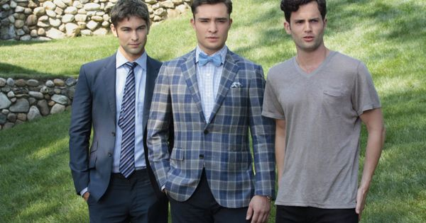 Still of Penn Badgley, Chace Crawford and Ed Westwick in Gossip Girl!