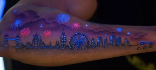 Amazing UV Tattoos: wouldn't get this, but it looks cool. I NEED