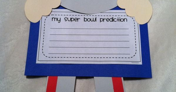 Super Bowl craft & prediction writing prompt! Don't like the teams in