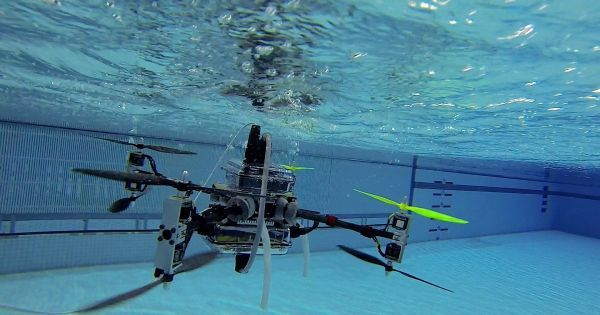 This Drone Can Fly and Swim