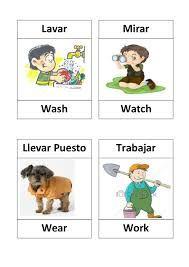 Resultado De Imagen Para Dibujos De Verbos En Ingles Verbos Ingles Ingles Para Preescolar Verbos Ingles Espanol