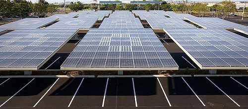 Solar Parking Lots Keeping Your Car Cool And Charging Your Car While You Re At Work Solar Panels Solar Solar Tree